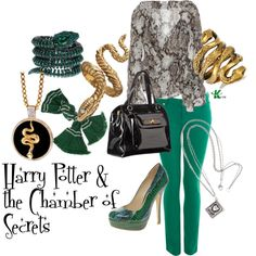 """Harry Potter & the Chamber of Secrets"" by wearwhatyouwatch on Polyvore"