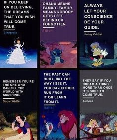 Words of Wisdom from different Disney characters