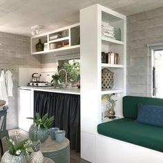 If your new bathroom includes a complete remodel project, try to find tips on dealing with specialists. Other crucial choices will be picking colors and choosing the best vanity and sink for your bathroom. Mobile Home Renovations, Remodeling Mobile Homes, Home Remodeling, Caravan Makeover, Caravan Renovation, Caravan Living, Rv Living, Little White House, Asian Interior
