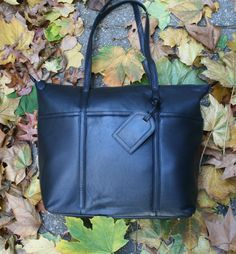 NW Genuine LEATHER Classic TOTE, EVERYDAY Bag, Shoulder Bag, Diaper bag #Unbranded #TotesShoppers