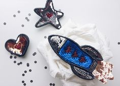 Брошь Космос Embroidered bead brooch  . Bead jewelry