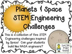Engineering Planets and Space: STEM Engineering Challenges Five Pack! Engineering Planets and Space: STEM Engineering Challenges Science Classroom, Teaching Science, Science Education, Teaching Ideas, Earth And Space Science, Stem Science, Engineering Challenges, Stem Challenges, Science Activities