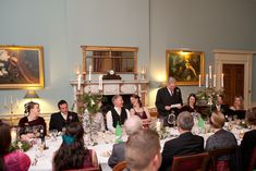 Dinner in the dining room - Wedderburn Castle