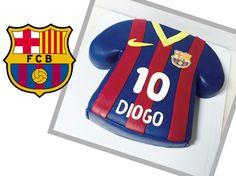 Barça Barcelona Bolo Chocolate Camisola futebol