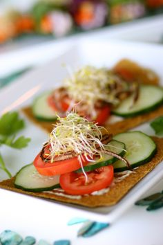 Raw vegan sprouted buckwheat sandwich at Pure Juice Cafe www.purejuicecafe.com