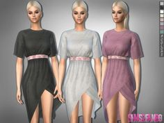 The Sims Resource: 323 - Boho Dress With Belt by sims2fanbg • Sims 4 Downloads