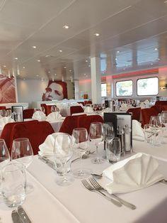 Restaurante do Navio Amália Rodrigues - CroisiEurope © Viaje Comigo Douro, Portugal, Alcoholic Drinks, Glass, Ship, Viajes, Traveling, Restaurant, Places To Visit