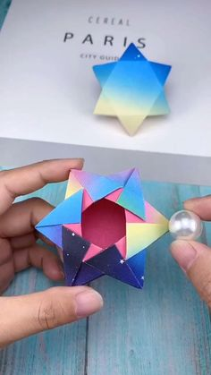 Diy Crafts Hacks, Diy Crafts For Gifts, Diy Arts And Crafts, Creative Crafts, Diys, Instruções Origami, Paper Crafts Origami, Oragami, How To Origami