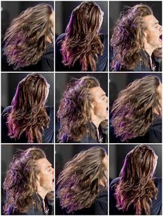 I love his hair so much.  It's so beautiful!! - Harry - Jimmy Kimmel show - 11/19/15