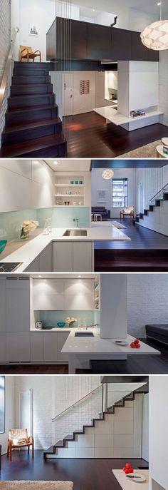 Moderne offene Küche mit Theke Wohnideen Küche Pinterest - küche mit theke