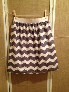 Chevron High Waist Elastic Skirt more colors by BriscoeDesigns, $25.00