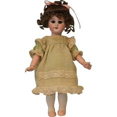"""9.5"""" Simon & Halbig DEP 11 German Bisque Doll For French Market French from turnofthecenturyantiques on Ruby Lane"""