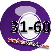Sticker Maker - Tambola Balls 31-60
