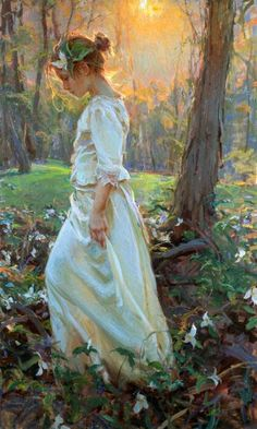 Daniel Gerhartz (I think this looks like Anne, wandering around the woods with leaves in her hair.)
