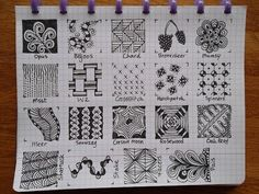 Zentangle Patterns Step by Step | Found on tekenpraktijkdeinnerlijkewereld.blogspot.com