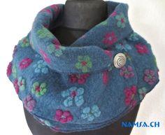 Mes ORGINAL NAMSA châle en laine sont des pièces uniques crées avec de la laine foulée (feutrée). Je travail avec les tissus foulées les plus précieuses d`une europe. Le châle en laine peut...