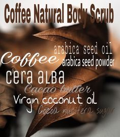 Composition Natural Coffee Body Scrub