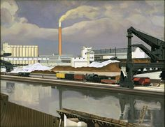 Charles Sheeler (USA, ) – American Landscape (1930) Museum of Modern Art, New York