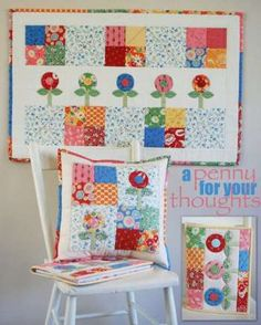 A Penny For Your Thoughts - by Janelle Wind - PatternSECONDARY_SECTION$16.50: Fabric Patch: Patchwork Quilting fabrics, Moda fabric, Quilt…