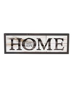 This 'Home Sweet Home' Wall Art is perfect! #zulilyfinds