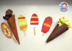 ijsjes maken met kleuters met kleuters, kleuteridee, preschool camping theme.