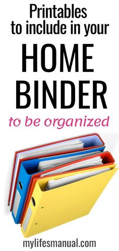 What makes a great home binder for busy moms? A great home management binder should keep a busy mom organized. It should be a solution for all the busy moms to man. Household Organization, Home Organization Hacks, Paper Organization, Organizing Your Home, Organising, Be Organized, Getting Organized, Planners, Home Management Binder