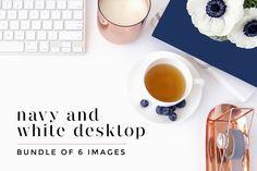 Navy + White Desktop Bundle by Styled Stock Society SHOP on @creativemarket