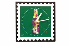 Colourful & decorative clock for any room. Can be hung on the wall or displayed on a flat surface.
