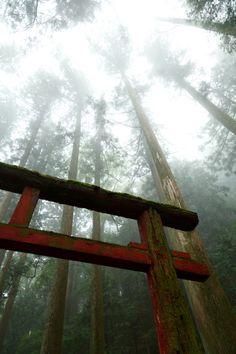 Torii gate of Haruna shrine, Gunma, Japan 榛名神社 群馬