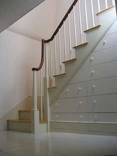 Drawers in the steps. Love it!
