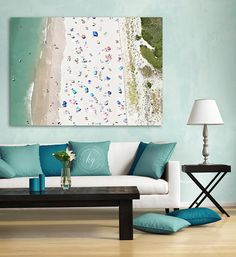 Large Aerial Beach Photography Order as Unframed Print