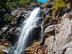 The most impressive waterfall of Fonias canyon, Samothrace island