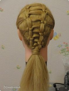 knots to a wrapped ponytail
