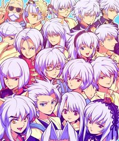 The Anime Characters With White Hair Club!