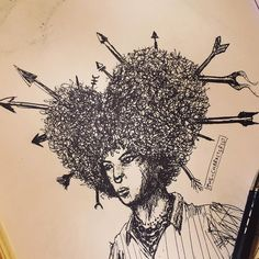 The looooove Afro . . . #characterist  #drawings #art #artsy #artist #artwork #doodle #afro #black #instaart #instagood #sketchbook #illustration  #artwork #artoftheday #pen #hiphop #hipster #drawing #sketching #sketches #doodles  #hairstyle #hair #love #cool #style #fashion #face