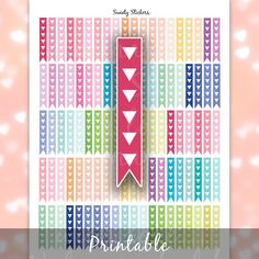 Checklist Stickers Printable ღ Triangle by SweetyStickers on Etsy