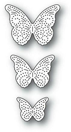 CUT FROM MEMORY BOX DIES. THREE PIPPI  MONARCH BUTTERFLIES