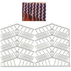 Crochet Ripple Stitch - Chart