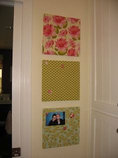 DIY fabric covered cork boards