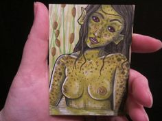 "original ACEO art card 2,5""x3,5"" 6,4x8,9cm collector card ""Moora"" #31"