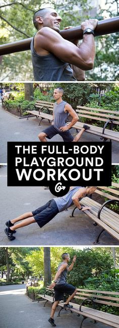 Full-Body Playground Workout Turn any park into a (free!) gym with these creative moves that challenge every major muscle.Turn On Turn On may refer to: Park Workout, Butt Workout, Street Workout, Lower Ab Workouts, Easy Workouts, Outdoor Workouts, Exercise Workouts, Exercise Routines, Fit Girl Motivation