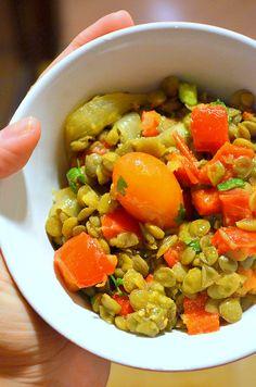 Salada morna de lentilha (vegan) | le pixel gourmet