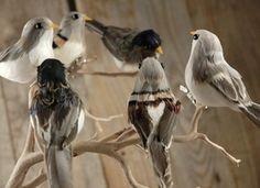 Assorted 5in Artificial Birds 6pc