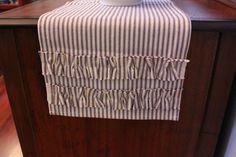 Farmhouse Blue Ticking Stripe 48 Table