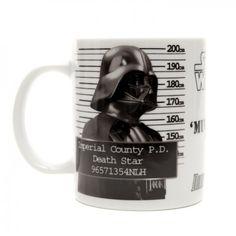 Star Wars Mug Shot Darth Vader Mug  on Yellow Octopus  #kriskringle #starwars #mug #cup #shot #darthvader #coffee #tea