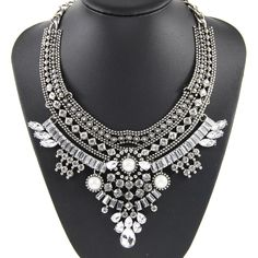 Find More Pendant Necklaces Information about 2015 New Fashion Design Bridal Jewelry Vintage Neck Bib Collar Chokers Statement Necklaces & Pendants  women Evening Dress NK974,High Quality Pendant Necklaces from MX JEWELRY on Aliexpress.com