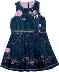 Little Girl Dresses, Nice Dresses, Girls Dresses, Denim Frocks, Unique Baby Boy Clothes, Toddler Outfits, Girl Outfits, Girls Denim Shirt, Chambray