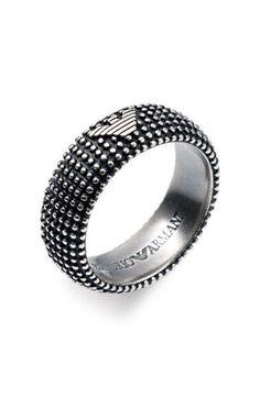 Emporio Armani Sterling Silver Ring | Nordstrom