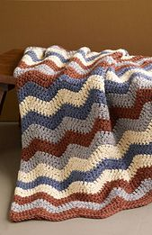 Ravelry: Shaded Ripple / Smoky Mountain Afghan pattern by Lion Brand Yarn
