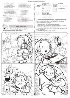 CUENTOS Y SECUENCIAS FICHAS DE LENGUAJE DE CUENTOS Y SECUENCIAS Peanuts Comics, Spanish, Snoopy, Fictional Characters, Frases, Fables For Children, Preschools, Index Cards, Reading